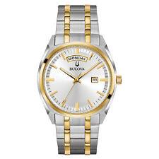 Bulova Men's Quartz Yellow Gold and Silver-Tone Bracelet Watch 98C127