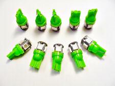 10 pcs Green For Chevy BRIGHT 12V LED 168 Wedge Instrument Panel Light Bulbs NOS