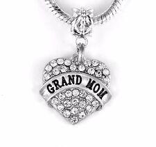 Grandmom charm Grand mom jewelry best Grandmother gift Fits European grammy gram