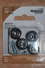 "4 Pak national Hardware Protection Bumpers 3/4"" Protect Walls, Cabinets etc."