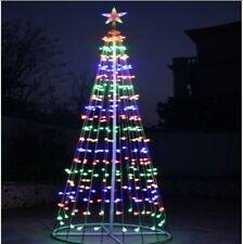 Albero di Natale 2 Mt Luminoso Moderno in Ferro 360 Miniluci Multicolor Rgb IP44