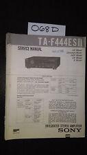 Sony TA-F444ES II 2 Service Manual original repair book stereo amp amplifier