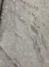 White Hollywood Damask 2 Way Stretch Modern Lace Fabric Sold By The Yard