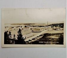 1938 View of Quoddy Village From Rice's Hill Eastport Maine Real Photo Postcard