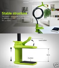 Green 360 Rotating Lazy Mobile Phone Clip Holder Selfie Stick Desk Bed Stand