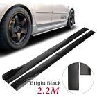 """86.6""""Side Skirt Extension Rocker Panel Body Kit Lip Splitters For Honda Civic"""