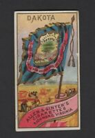 1888 Allen & Ginter N11 Flags of States & Territories Dakota
