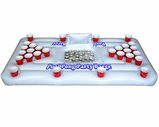 Floating Beer Pong Table Pool College Inflatable Party Built In Cooler Lounge