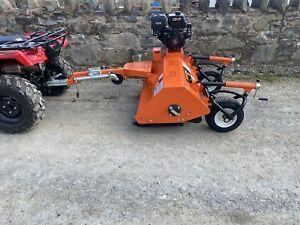 Flail Mower Topper ATV 120 New Quad Gator Towable Petrol Engine 2 Year Warranty