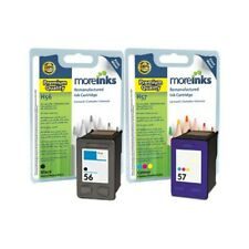 Moreinks Remanufactured HP 56/57 Black+Tri-Colour Ink Cartridges for HP Printers