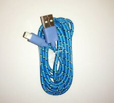 Long USB Cable for iPhone 6S 6 5S 5C 5 Data USB Charger 2M Extension Lead Blue