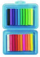 Stylex Knete 20 Stangen in Kunststoffbox Knetbox Schulbox 20 Farben