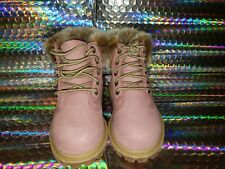 timberland premium 6 in waterproof boot pink kids size 5