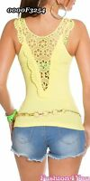 Ladies Tank Top Sexy Womens Summer Casual Vest Lace Top Size 8/10,12/14 UK New
