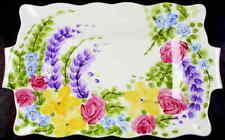 Tabletops Unlimited English Garden Rectangular Serving Platter 4262383