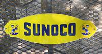 VINTAGE SUNOCO WALT DISNEY PORCELAIN SIGN DOOR PLAQUE USA OIL GAS STATION PUMP