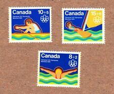 SWIMMING ROWING SAILING = Canada 1975 #B4-B6 MNH-VF q06