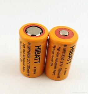 HIGH DRAIN IMR 18350 700mAh 3.7V Battery Li-ion 14a with nipple