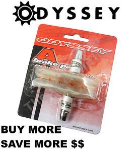 Odyssey SOFT Compound Clear A-Brake Pads fits Linear Pull (V) Brakes BMX Bike