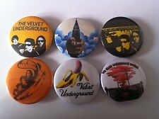 6 The Velvet Underground Pin Button badges Lou Reed Loaded Squeeze Andy Warhol