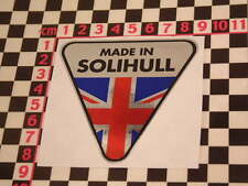 Made in Solihull Chrome Sticker- Land Rover P4 P5 P6 P5B Coupe Series 1 Range