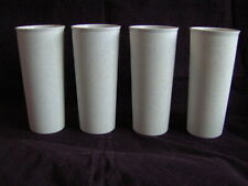 TUPPPERWARE 16 Oz LARGE SPECKLED TUMBLERS #107 Set of 4 GLASSES CUPS STACKABLE