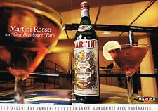 PUBLICITE ADVERTISING 025  1992  MARTINI  ROSSO au café BEAUBOURG PARIS ( 2p)