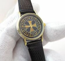 KNIGHTS TEMPLAR,Cross Dial,Genuine Leather Cobra Band,Unique!,LADIES WATCH,1133