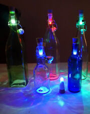 LED Korken Tischlampe Flaschenbeleuchtung Cork USB Akku Bottle Light licht BLAU