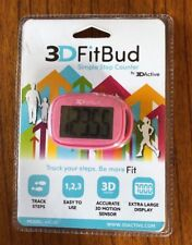 Simple Step Counter Walking 3D Pedometer with Lanyard A420S Pink for Fitness