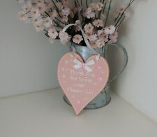 Handmade Wooden Heart Thank you for being our Flower Girl/ Bridesmaid Gift Sign