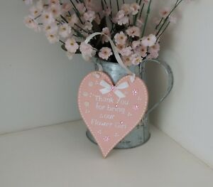 Thank you for being our Flower Girl/ Bridesmaid Gift Wooden Heart Gift Sign