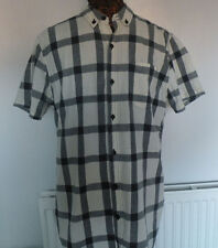 Large navy check short sleeved shirt by Red Herring vgc slim fit size L