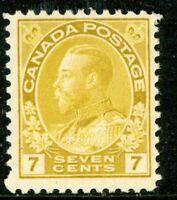 Canada 1912 Admiral 7¢ Yellow Ocher Perf 12 Scott # 113 MNH  H917