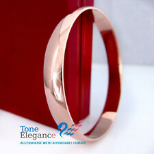 9ct rose gold filled GF Soild plain womens bangle bracelet