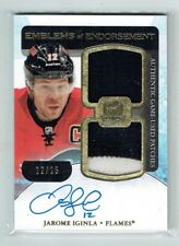11-12 UD The Cup Emblems of Endorsement  Jarome Iginla  12/15 His No. Auto Patch