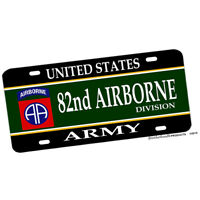 US Army 82nd Airborne Division Aluminum License plate