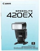 Bedienungsanleitung Blitzgerät CANON SPEEDLITE 420EX Blitz * User Manual (X2551