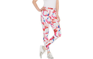 Tracy Anderson for G.I.L.I. High Waisted Leggings Floral XS A309731 QVC J
