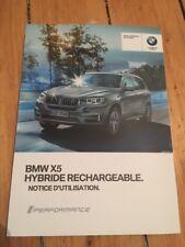 Manuel Notice D Utilisation BMW X5 Hybride