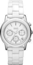 DKNY NY8313 Chambers White Dial Ceramic Bracelet Chronograph Women's Watch