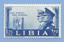 Italy Nazi Germany Axis 1941 Adolf Hitler Mussolini Libya 1.25 stamp MNH WW2ERA