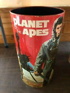 1967 original vintage Planet of the Apes movie Cheinco trash can