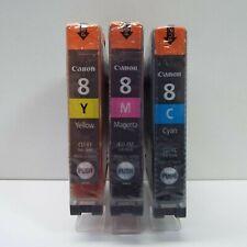 GENUINE CANON CLI-8 COLOR INK CARTRIDGE CYAN YELLOW MAGENTA (LOOK DESC.) C1300