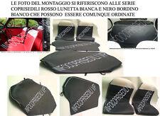 """FIAT 500 CINQUINO (GRIGIO SCURO bordino e lunette BIANCO) COPRISEDILI""""Linea Base"""