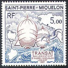 ST PIERRE & MIQUELON 1987 BATEAU/BATEAUX/Transat Course/Sports/transport 1 V (n30686/)