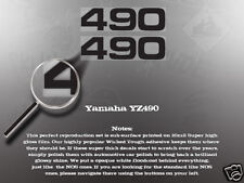 WICKED TOUGH YAMAHA YZ490 490 SIDE COVER DECAL GRAPHIC