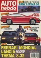 AUTO HEBDO n°604 du 16 Décembre 1987 ALBINA B6 LANCIA THEMA 832