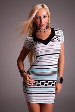 Miniabito Vestitino Donna Vestito Abito SYL FASHION 02360-B252 Tg S/M  **