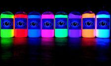 8x 250ml Ultra Bright Artists' UV Paint Fluorescent Ultraviolet Neon Glow Paints